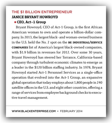 Janice Bryant Howroyd _Black Enterprise Woment Of Power Mention